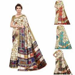 New Designer Print Art Silk Saree