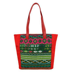 Nava Red Acrylic Tote Bag