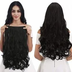 5 Clip On Curly Black