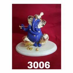 3006 Gold Plated Lord Ganpati Statue