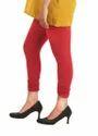 Red Cotton Lycra Legging