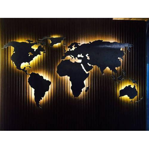Multicolor World Map Mural Rs 15000 Piece Captivate Art Id 15655835873
