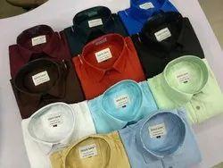 Cotton,Satin Full Collar Shirt