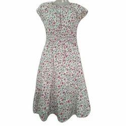 Printed Round Neck Ladies Dress