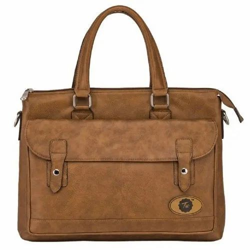 Tie Brown Office Executive Leather Bag