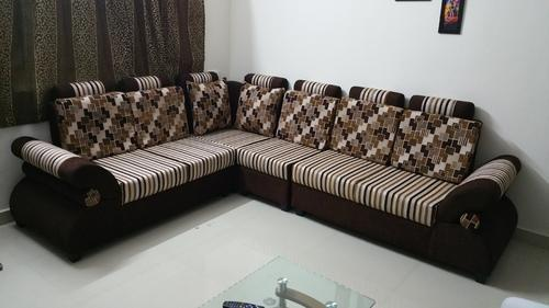 Wooden Solid Wood Corner Sofa Set New Latest Design Branded Color 3