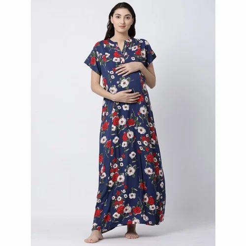 fd410bced8 Blue Soft Cotton Nursing Gown Nighty, Size: M-XXXL, Rs 1299 /piece ...