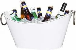 Galvanized Ship Shape Beverage Party Tub