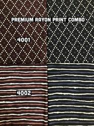 Rayon Discharged Prints