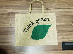 Gama Green Jute Bag