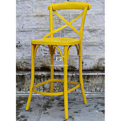 Iron Yellow Bar Chair