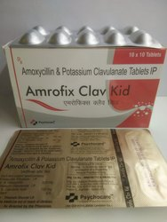 Amoxycillin 250 mg & Potassium Clavulanate 125 mg Tablets IP (Amrofix Clav Kid)