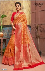 Ethnic Dyed Banarasi Silk Saree