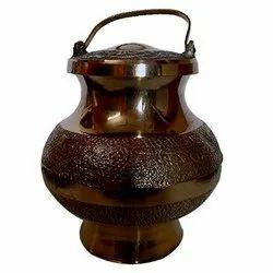 Polished Brass Gangotri Pot