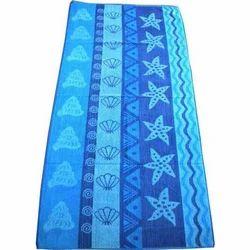 Blue Printed Cotton Towel