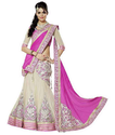 Cream And Pinkj Designer Salwar