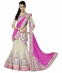 Cream And Pinkj Designer Salwar