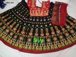 Ladies Cotton Designer Rabari Chaniya Chol, Dry clean