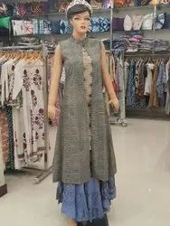 Block Printed Long Dress Set