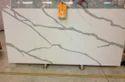 White Calacatta Quartz, Thickness: 20-25 Mm