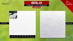 Heat Proof Roofing Tiles -  White Feet Tile - Gold