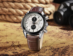 Megir 2020-brown analog-chronograph watch - for men