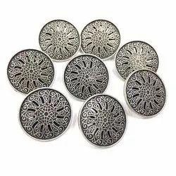 Round Metal Designer Button for Garments