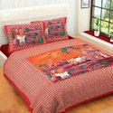 Jaipuri Printed Double Bed Sheet