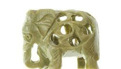 Soapstone mini Carved Elephant