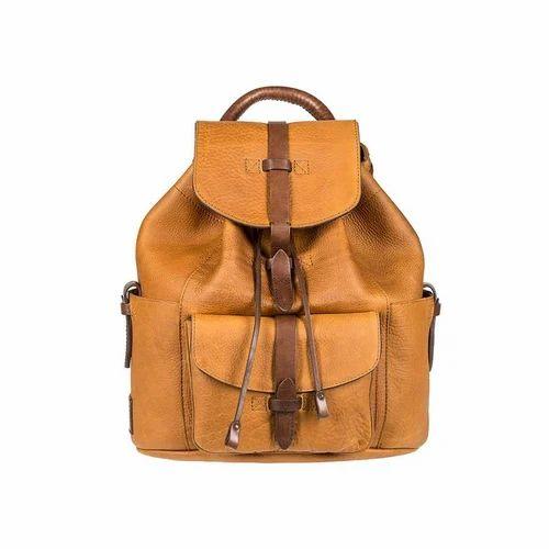 ShampiBags (BigBadaBoom)  outlet store 6b6c3 84da0 Brown Stylish Leather  Backpack Bag ... 40d6e49aee