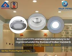 BIS Registration for Recessed LED Luminaries
