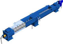 MS Screw Conveyor, Capacity: 100-150 kg per feet