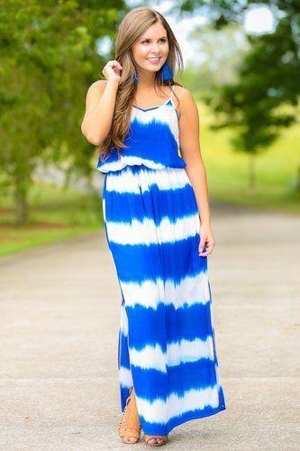 Blue Cotton Gorgeous Beachwear Tie Dye Maxi Dress Rs 100 Piece