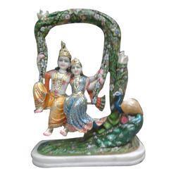 Radha Krishna Swing Statues