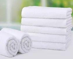 KAVERY BRAND White Bath Towel, 250-350 GSM, Size: 24*48 To 36*72