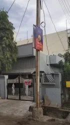Offline Pole Kiosk Advertising Service, For Advertisement