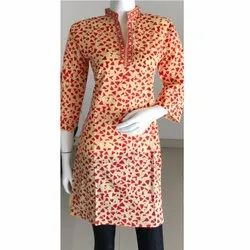 Digital Cotton Polka Dot Print Kurti