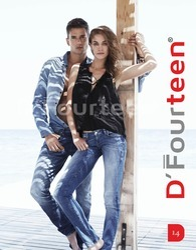 Blue Denim D'' Fourteen Funky Jeans, Waist Size: 28 to 36