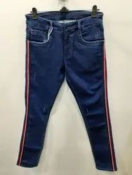 Mens Dark Blue Slim Fit  Stretch Jeans(PW-27)