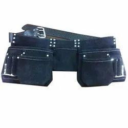 K X Plain 11 Pockets Black Colours Leather Carpenter Tool Apron