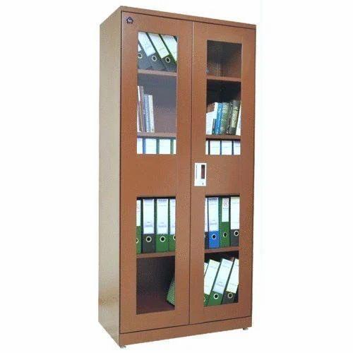 Brown Closed Office Wooden Bookshelf