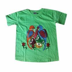 Green Kids Half Sleeve Cotton T-Shirt