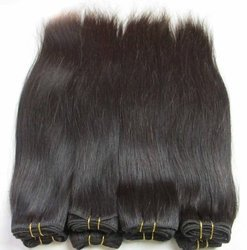 Non Remy Double Drawn Hair 10  Inch
