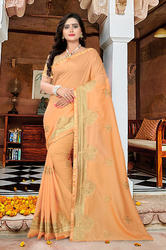 Very Heavy Vichitra Georgette Saree