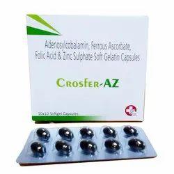 Adenosylcobalamin 200mcg, Ferrous Ascorbate 100mg, Folic Acid 5mg, Zinc Sulphate Monohydrate 7.5mg