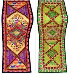Yellow Rectangular Jaipuri Handwork Table Runner, Size: 20x60 Inch