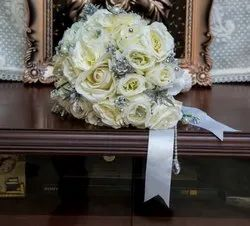 White And Silver Bridal Bouquet