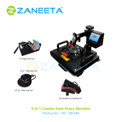 Semi-Automatic 5in1 Combo Heat Press Machine