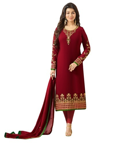 508c39f680 Georgette Maroon Embroidery Party Wear Salwar Kameez Suits, Rs 2120 ...