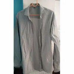 Long Sleeve Cotton Mens Sparky Plain Shirt